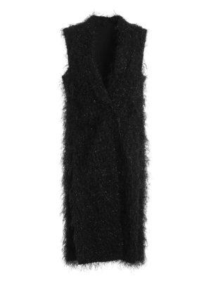 Brunello Cucinelli: knee length coats - Ethnic shimmering sleeveless coat