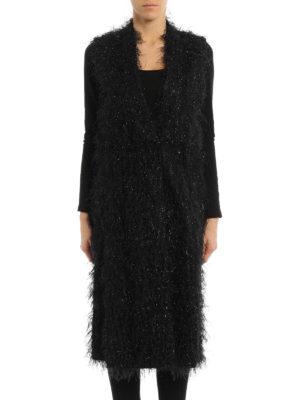 Brunello Cucinelli: knee length coats online - Ethnic shimmering sleeveless coat