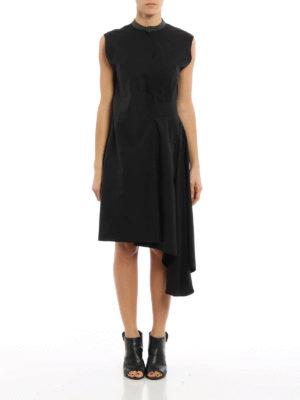 Brunello Cucinelli: knee length dresses online - Cotton blend bow  waist dress