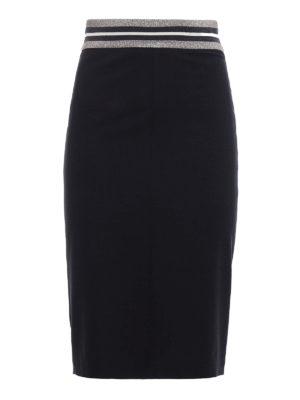 Brunello Cucinelli: Knee length skirts & Midi - Light wool pencil skirt