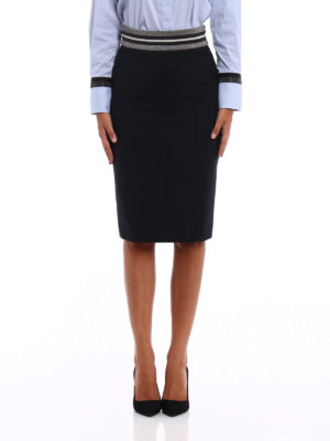 Brunello Cucinelli: Knee length skirts & Midi online - Light wool pencil skirt