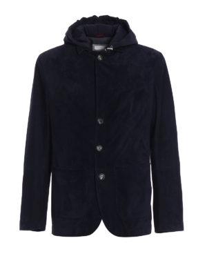 Brunello Cucinelli: leather jacket - Detachable waistcoat suede jacket