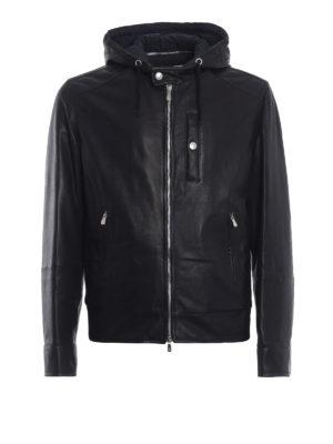 BRUNELLO CUCINELLI: giacche in pelle - Giubbotto in nappa con cappuccio ed eco piuma