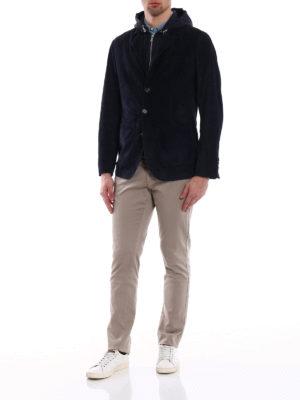 Brunello Cucinelli: leather jacket online - Detachable waistcoat suede jacket