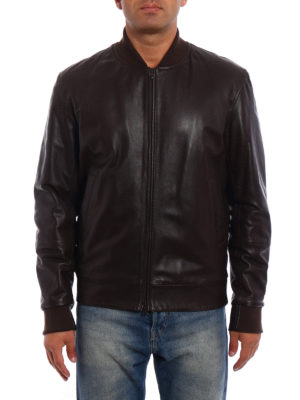 Brunello Cucinelli: leather jacket online - Soft leather bomber jackets