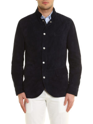 Brunello Cucinelli: leather jacket online - Suede jacket