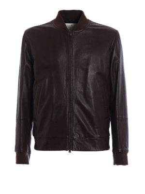 Brunello Cucinelli: leather jacket - Soft leather bomber jackets