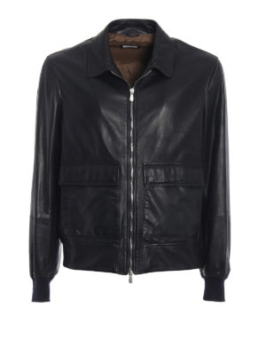 Brunello Cucinelli: leather jacket - Soft leather casual jacket