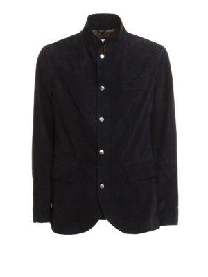 Brunello Cucinelli: leather jacket - Suede jacket