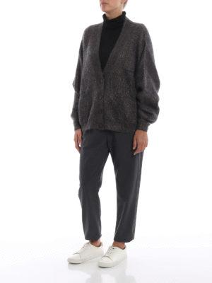 BRUNELLO CUCINELLI: cardigan online - Cardigan corto in morbido mohair e lurex