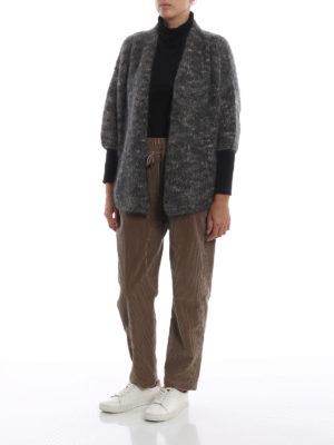BRUNELLO CUCINELLI: cardigan online - Cardigan chiné corto e aperto in misto mohair