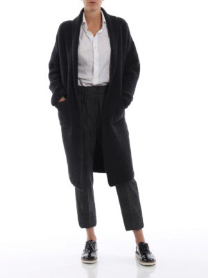 BRUNELLO CUCINELLI: pantaloni casual online - Pantaloni crop pull on in Principe di Galles