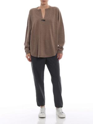 BRUNELLO CUCINELLI: maglia collo rotondo online - Pull in cashmere naturale con punto luce