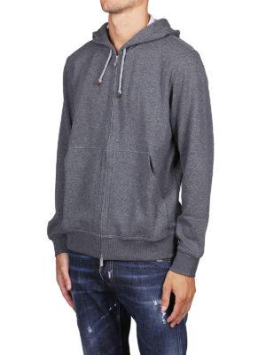 BRUNELLO CUCINELLI: Felpe e maglie online - Felpa in cotone melange con cappuccio e zip