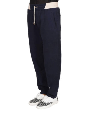 BRUNELLO CUCINELLI: pantaloni sport online - Pantaloni in cotone stretch blu