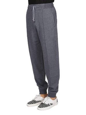 BRUNELLO CUCINELLI: pantaloni sport online - Joggers in cotone con piega cucita