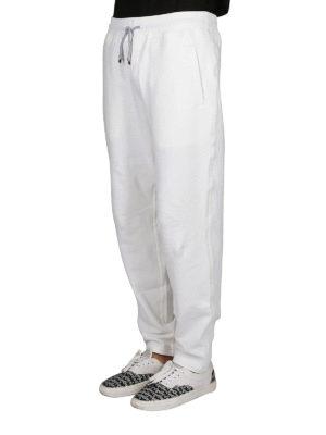 BRUNELLO CUCINELLI: pantaloni sport online - Pantaloni in cotone stretch bianco