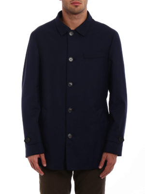 Brunello Cucinelli: padded jackets online - Water repellent wool caban