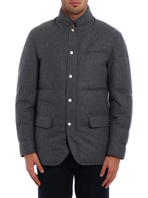 Brunello Cucinelli: padded jackets online - Waterproof wool padded jacket