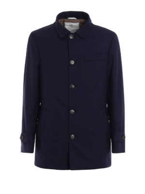 Brunello Cucinelli: padded jackets - Water repellent wool caban