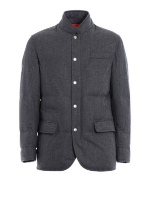 Brunello Cucinelli: padded jackets - Waterproof wool padded jacket