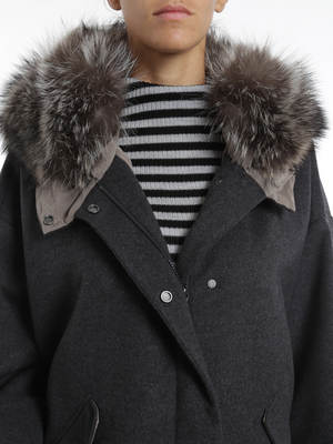 Brunello Cucinelli: parkas online - Marmot hood parka