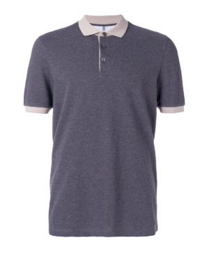Brunello Cucinelli: polo shirts - Contrasting collar and cuffs polo