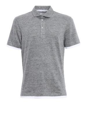 Brunello Cucinelli: polo shirts - Linen polo shirt