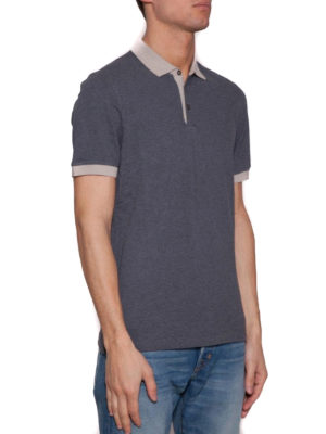 Brunello Cucinelli: polo shirts online - Contrasting collar and cuffs polo