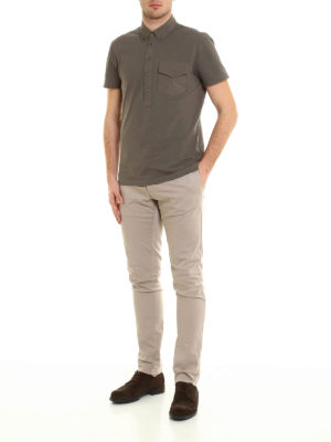 Brunello Cucinelli: polo shirts online - Cotton and silk jersey polo shirt