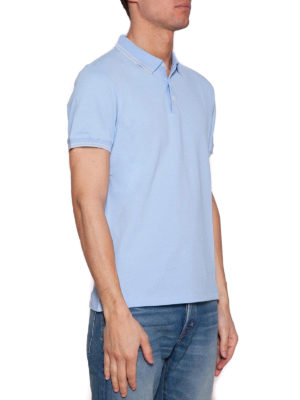 Brunello Cucinelli: polo shirts online - Cotton pique slim fit polo