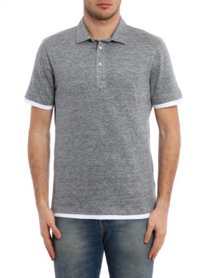 Brunello Cucinelli: polo shirts online - Linen polo shirt