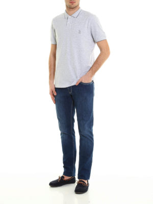 Brunello Cucinelli: polo shirts online - Pique cotton polo