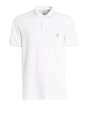Brunello Cucinelli: polo shirts - Pique cotton polo