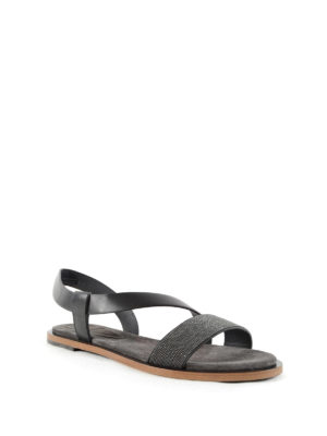 Brunello Cucinelli: sandals online - Monili detailed flat sandals