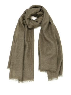 Brunello Cucinelli: scarves - Laminated mohair blend scarf
