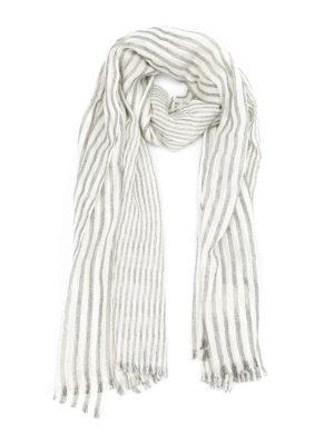 Brunello Cucinelli: scarves - Lurex embellished cashmere scarf