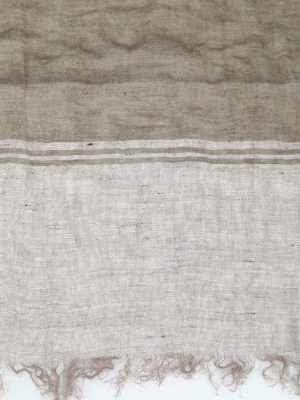 Brunello Cucinelli: scarves online - Linen scarf with fringed edges