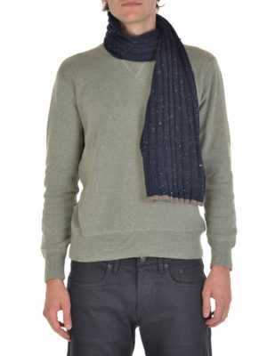 Brunello Cucinelli: scarves online - Ribbed wool and cashmere scarf