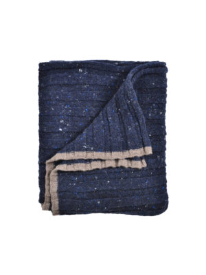 Brunello Cucinelli: scarves - Ribbed wool and cashmere scarf