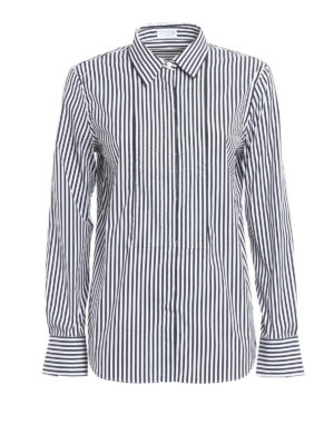 Brunello Cucinelli: shirts - Embellished striped shirt