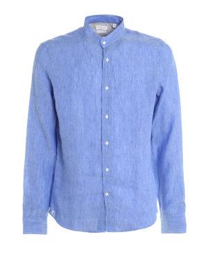 Brunello Cucinelli: shirts - Guru collar linen shirt