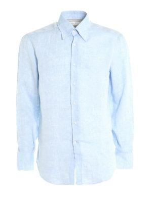 Brunello Cucinelli: shirts - Linen classic shirt