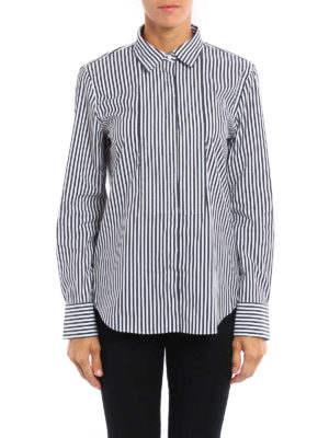 Brunello Cucinelli: shirts online - Embellished striped shirt