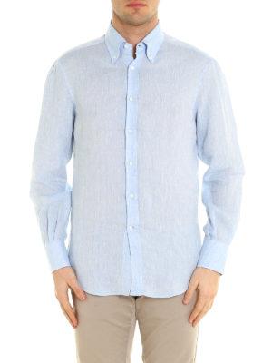 Brunello Cucinelli: shirts online - Linen classic shirt