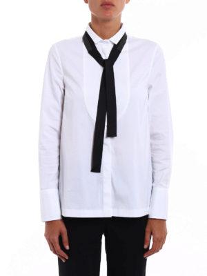 Brunello Cucinelli: shirts online - Precious Grosgrain Bow tuxedo shirt