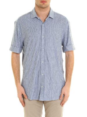 Brunello Cucinelli: shirts online - Short sleeve linen jersey shirt
