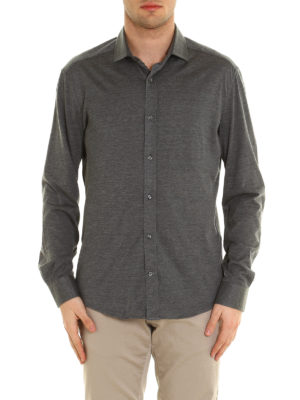 Brunello Cucinelli: shirts online - Silk and cotton jersey shirt