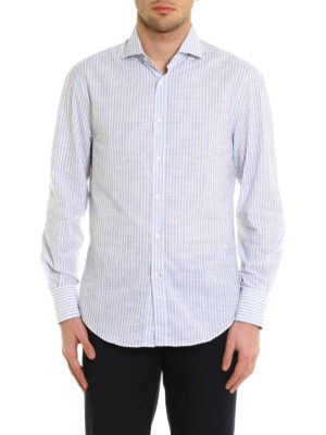 Brunello Cucinelli: shirts online - Striped pattern cotton shirt