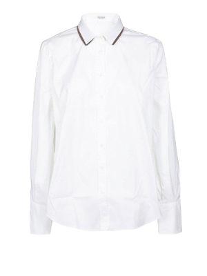 BRUNELLO CUCINELLI: camicie - Camicia in popeline Precious Double Collar